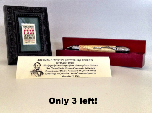 picture of civil war bullet pen and stamp