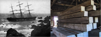 HISTORIC SAILING SHIP - THEN & NOW