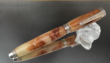 Sterling Silver Vintage Bakelite Fountain Pen