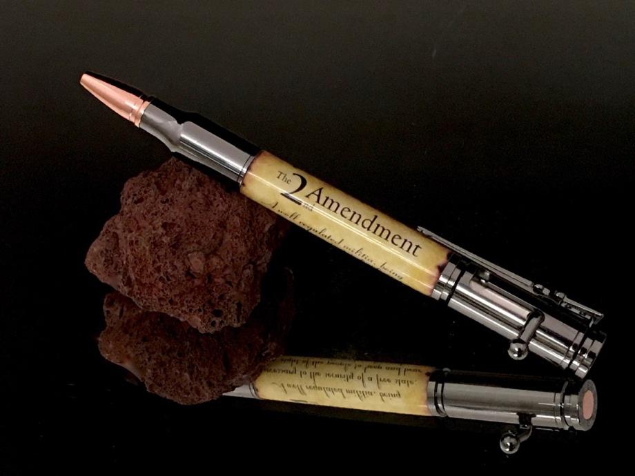 2nd Amendment Bolt Action Pen in Gunmetal