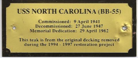 USS North Carolina COA