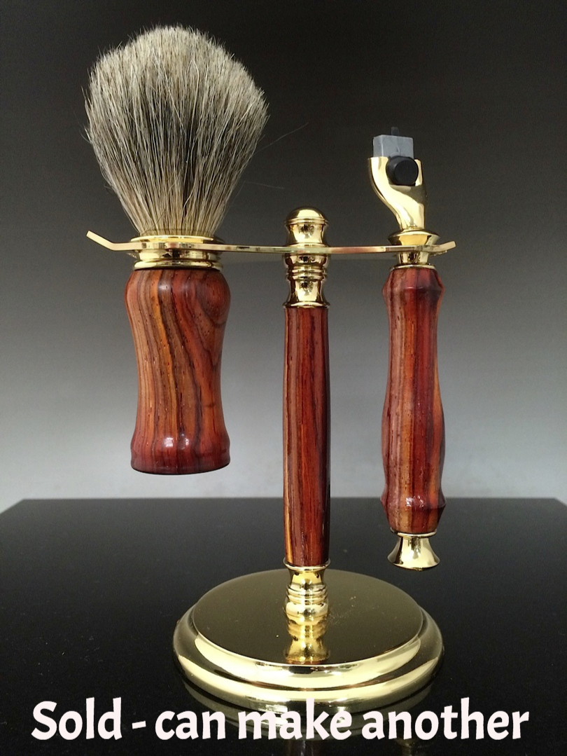handmade wood shave set,exotic wood shave set,Handmade razor,handcrafted razor, razor,Mach 3,Fusion,double edge,custom made razor, personalized razor,personalized shave set