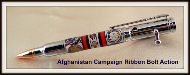 Afghanistan War Campaign Ribbon Bolt Action