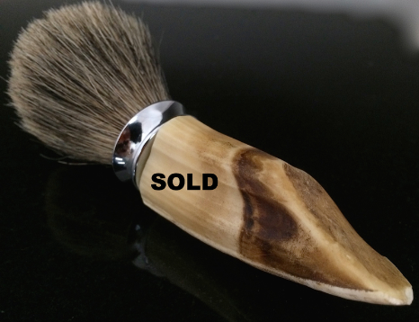 hippo tooth shave brush,ivory shave brush,Handmade razor,handcrafted razor, razor,Mach 3,Fusion,double edge,custom made razor, personalized razor,personalized shave set