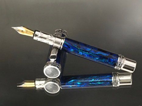 Paua Abalone Royal Blue Fountain Pen